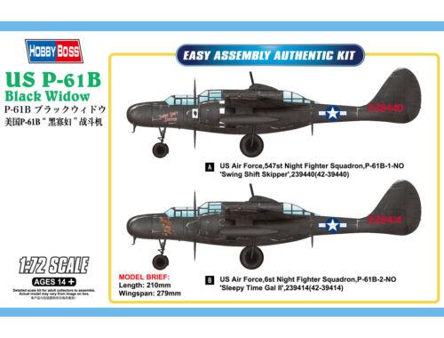 Hobby Boss US P-61B Black Widow 1:72 (87262)