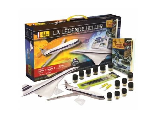 Heller La Légende Set Concorde   Caravelle 1:100 (52324)