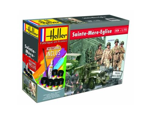 Heller Model Set Sainte mere eglise(GMC,JEEP,2 sets de figurines) 1:72 (53013)