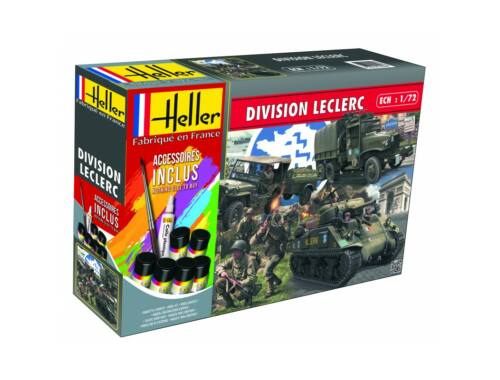 Heller Model Set DIVISION LECLERC (M4A2 Sherman,GMC,Jeep, figurines) 1:72 (53015)