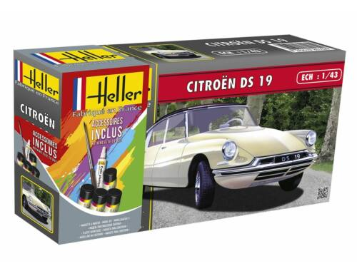 Heller STARTER KIT Citroen DS 19 1:43 (56162)
