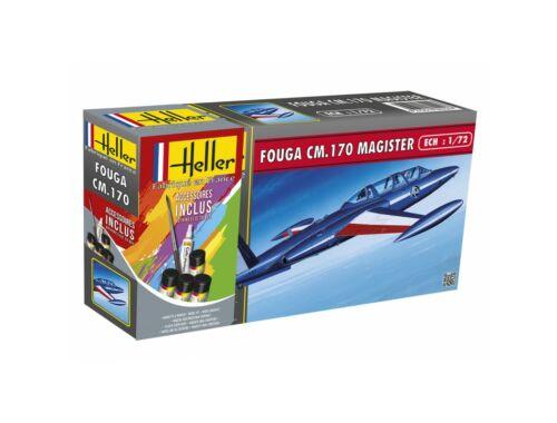 Heller Model Set FOUGA MAGISTER CM 170 1:72 (56220)
