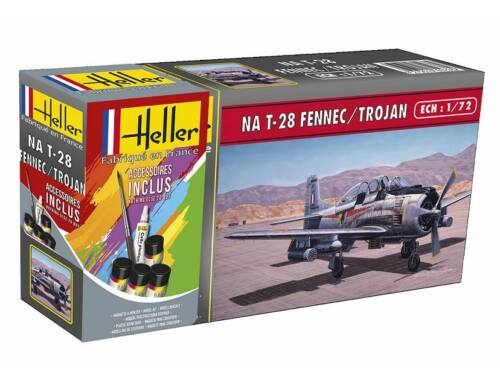 Heller STARTER KIT T-28 FENNEC /TROJAN 1:72 (56279)