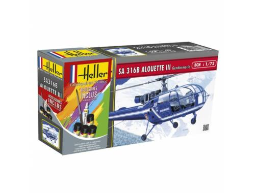 Heller STARTER KIT SA 316 Alouette III Gendarmerie 1:72 (56286)
