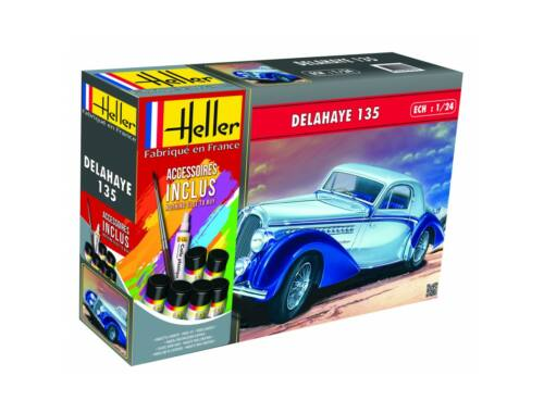 Heller Model Set DELAHAYE 135 (160 pieces) 1:24 (56707)