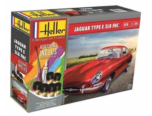 Heller STARTER KIT Jaguar Type E 3L8 FHC 1:24 (56709)
