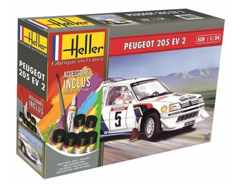 Heller STARTER KIT Peugeot 205 EV 2 1:24 (56716)