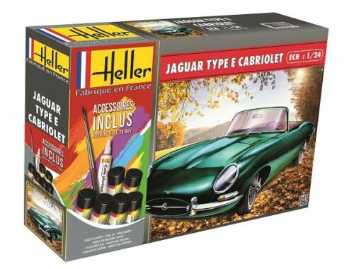 Heller Model Set Jaguar Type E 328 OTS 1:24 (56719)