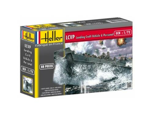 Heller Model Set LCVP Landing Craft Vehicle Personal 1:72 (56995)