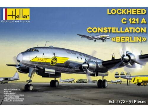 "Heller Lockheed C-121A constellation ""Berlin"" 1:72 (80382)"