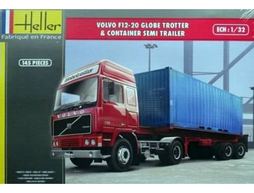 Heller VOLVO F12-20 Globetrotter   Container semi trailer 1:32 (81702)