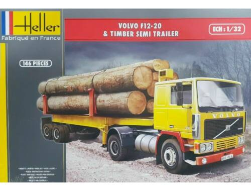 Heller VOLVO F12-20   Timber Semi Trailer 1:32 (81704)