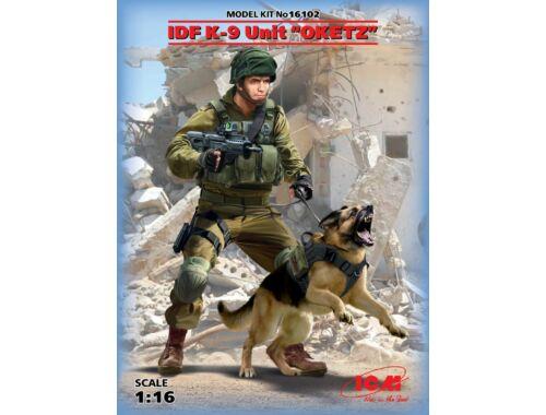 ICM K-9,Israeli Police Team Officer with dog 1:16 (16102)