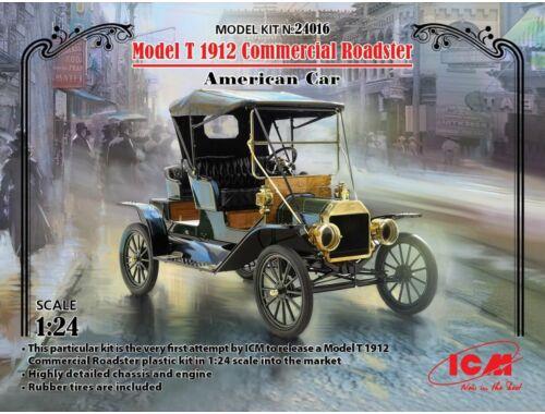 ICM Model T 1912 Commercial Roadster,America Car 1:24 (24016)