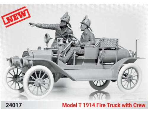 ICM Model T 1914 Fire Truck with Crew 1:24 (24017)
