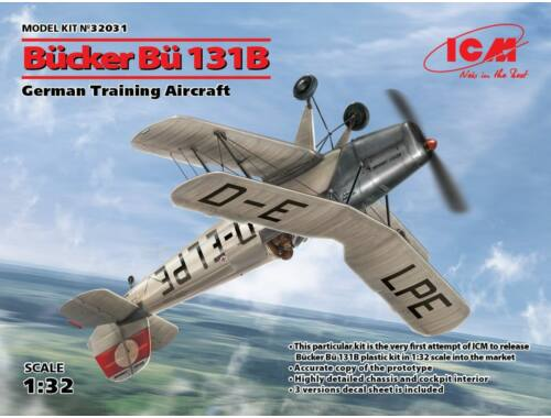 ICM Bücker Bü 131B,German Training Aircraft 1:32 (32031)