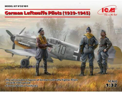 ICM German Luftwafe Pilots(1939-1945)(3 Figu 1:32 (32101)