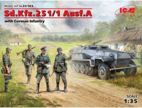 ICM Sd.Kfz.251/1 Ausf.A with German Infantry 1:35 (35103)