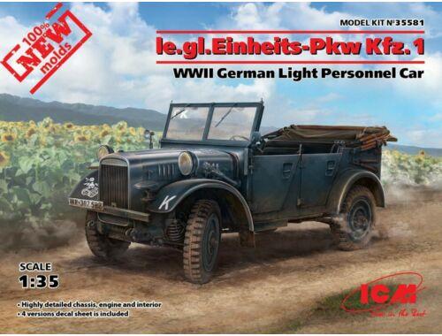 ICM Ie.gl.PKW Kfz.1, WWII German Light Personnel Car 1:35 (35581)