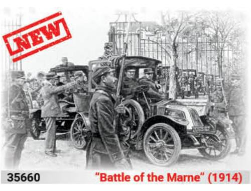 ICM Battle of the Marne(1914),Taxi car wit French Infantry 1:35 (35660)