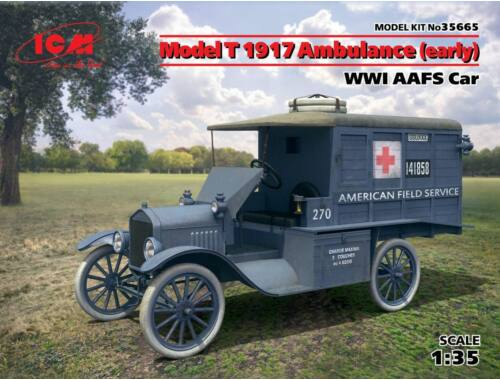 ICM Model T 1917 Ambulance(early)WWI AAFScar 1:35 (35665)