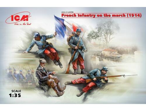 ICM French Infantry on the march(1914)4Figur 1:35 (35705)