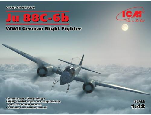 ICM Ju 88C-6b, WWII German Night Fighter 1:48 (48239)