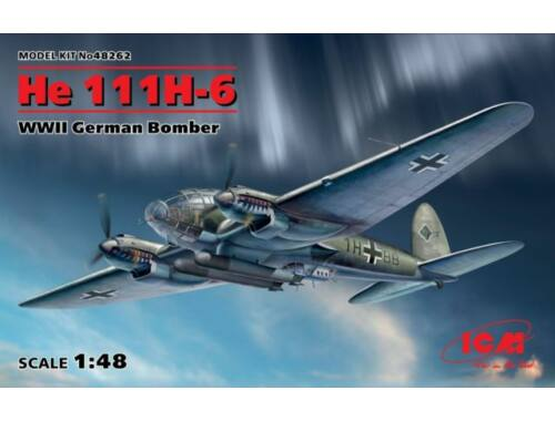 ICM He 111H-6, WWII German Bomber 1:48 (48262)