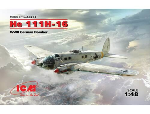 ICM He 111H-16, WWII German Bomber 1:48 (48263)