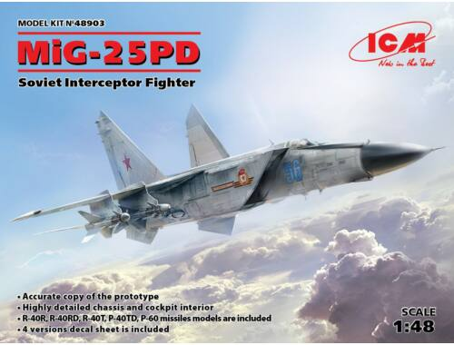 ICM MiG-25 PD, Soviet Interceptor Fighter 1:48 (48903)