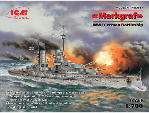 ICM Markgraf (full hull   waterline) WWI German Battleship 1:700 (S017)