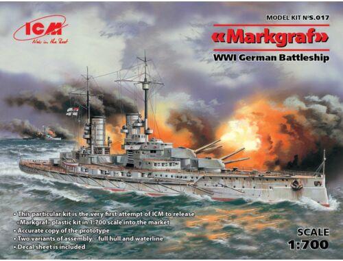ICM Markgraf (full hull   waterline) WWI German Battleship 1:700 (S017)