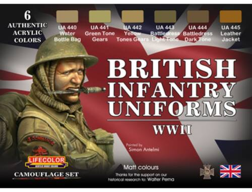 Life Color British Infantry Uniforms,WWII (CS41)