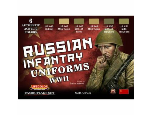 Life Color Russian Infantry Uniforms, WWII (CS42)