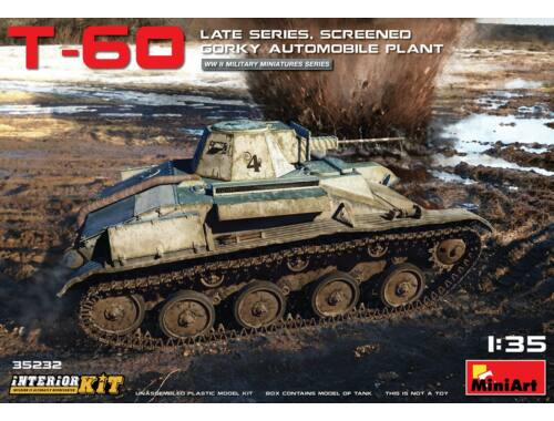 Miniart T-60 Late Series, Screened (Gorky Automobile Plant) Interior Kit 1:35 (35232)