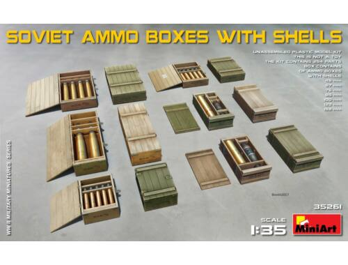 Miniart Soviet Ammo Boxes with Shells 1:35 (35261)