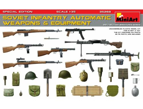 Miniart Soviet Infantry Automatic Weapons   Equi -pment.Special Edition(PE Parts) 1:35 (35268)