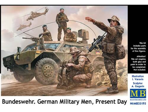 Master Box Bundeswehr,German military men, Present day 1:35 (35195)