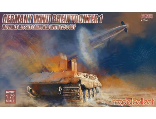 Modelcollect Germany WWII Rheintochter 1 movable Missile launcher with E75 body 1:72 (UA72092)