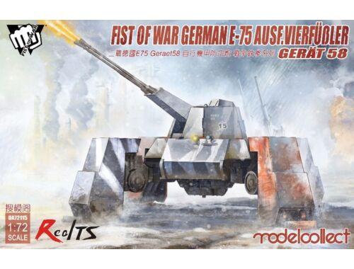 Modelcollect Fist of War German WWII E75 Ausf. vierfubler Gerat 58 1:72 (UA72115)
