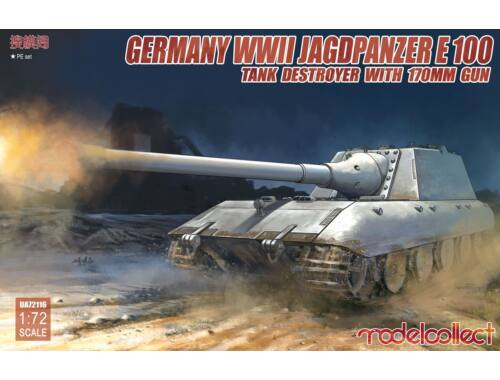 Modelcollect German WWII Jagdpanzer E-100 Tank destro -yer with 170mm gun 1:72 (UA72116)