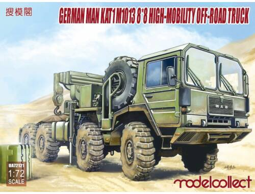 Modelcollect German MAN KATM1013 8*8 HIGH-Mobility off-road truck 1:72 (UA72121)