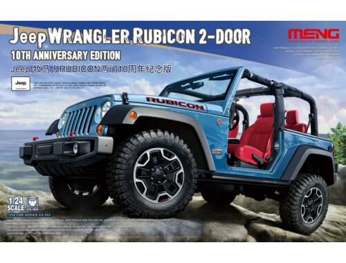 Meng Jeep Wrangler Rubicon 2-Door 10th Anniversary Edition 1:24 (CS-003)
