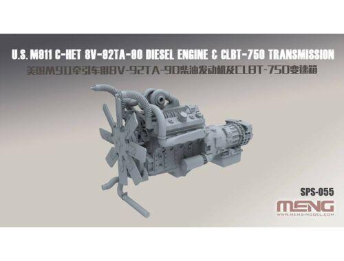 Meng U.S.M911 C-HET 8V-92TA-90 Diesel Engine   CLBT-750 Transmission(resin) 1:35 (SPS-055)