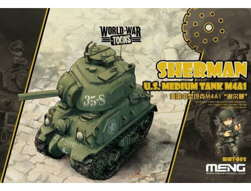 Meng U.S. M4A1 Sherman WW Toons Model (WWT-002)