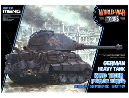 Meng German King Tiger (Porsche Turret) WW Toons Model (WWT-003)