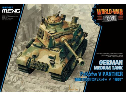 Meng German PzKpfw V Panther WW Toons Model (WWT-007)