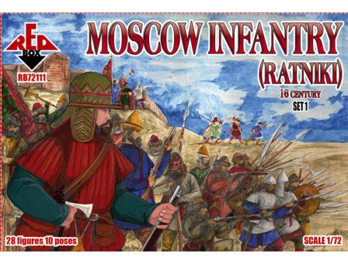 Red Box Moscow Infantry (ratniki)16 cent.,Set 1 1:72 (72111)
