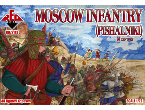 Red Box Moscow Infantry (pishalniki) 16 century 1:72 (72113)