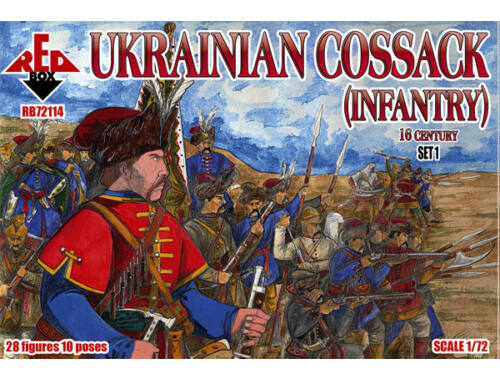 Red Box Ukrainian Cossack (infantry)16 cent.Set1 1:72 (72114)